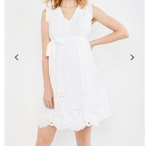 White Motherhood Maternity Dress